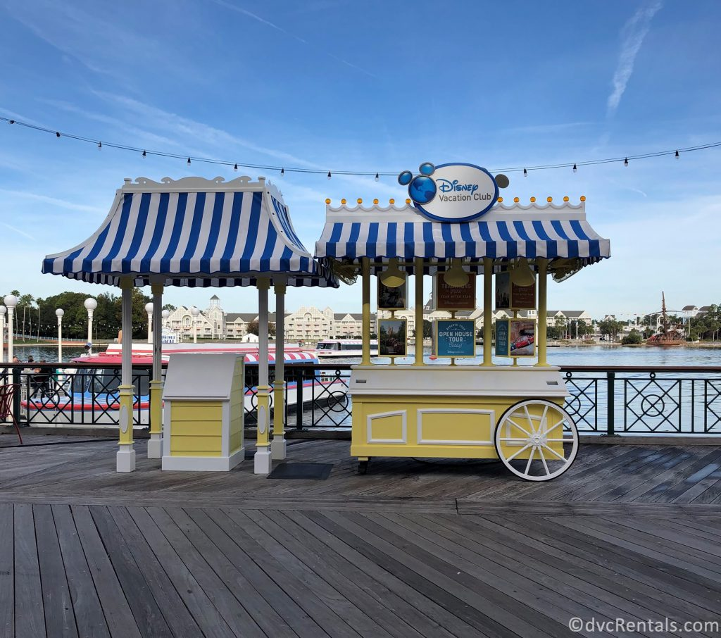 booths at Disney's Boardwalk area