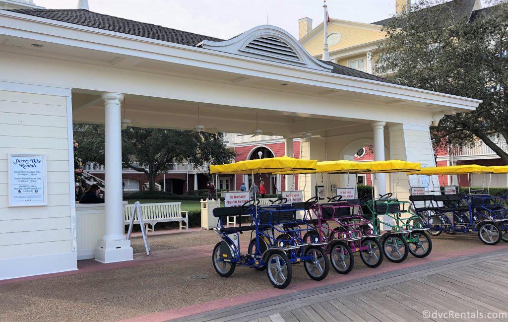Bike Rentals at Disney's Boardwalk area