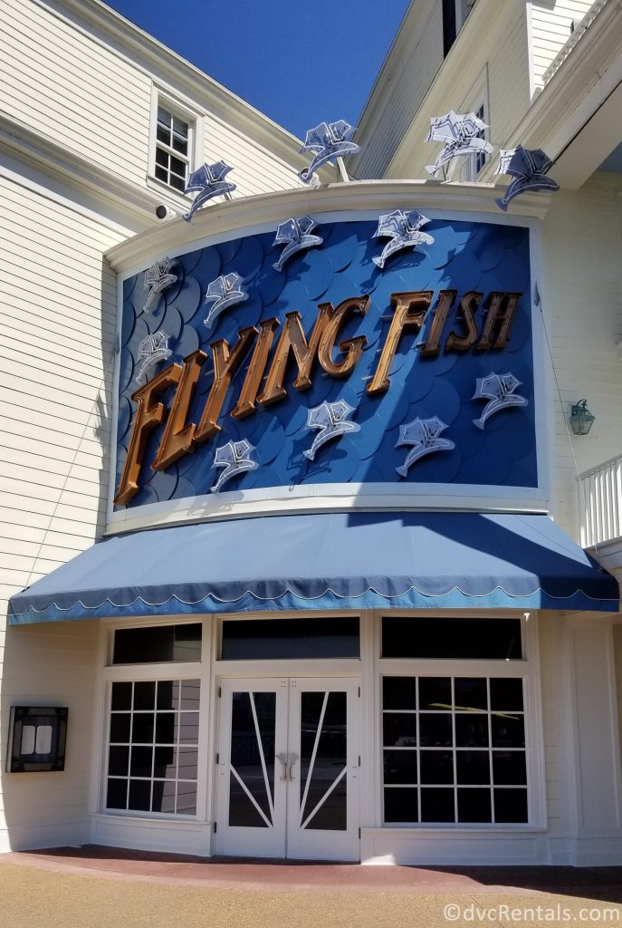 sign for the Flying Fish