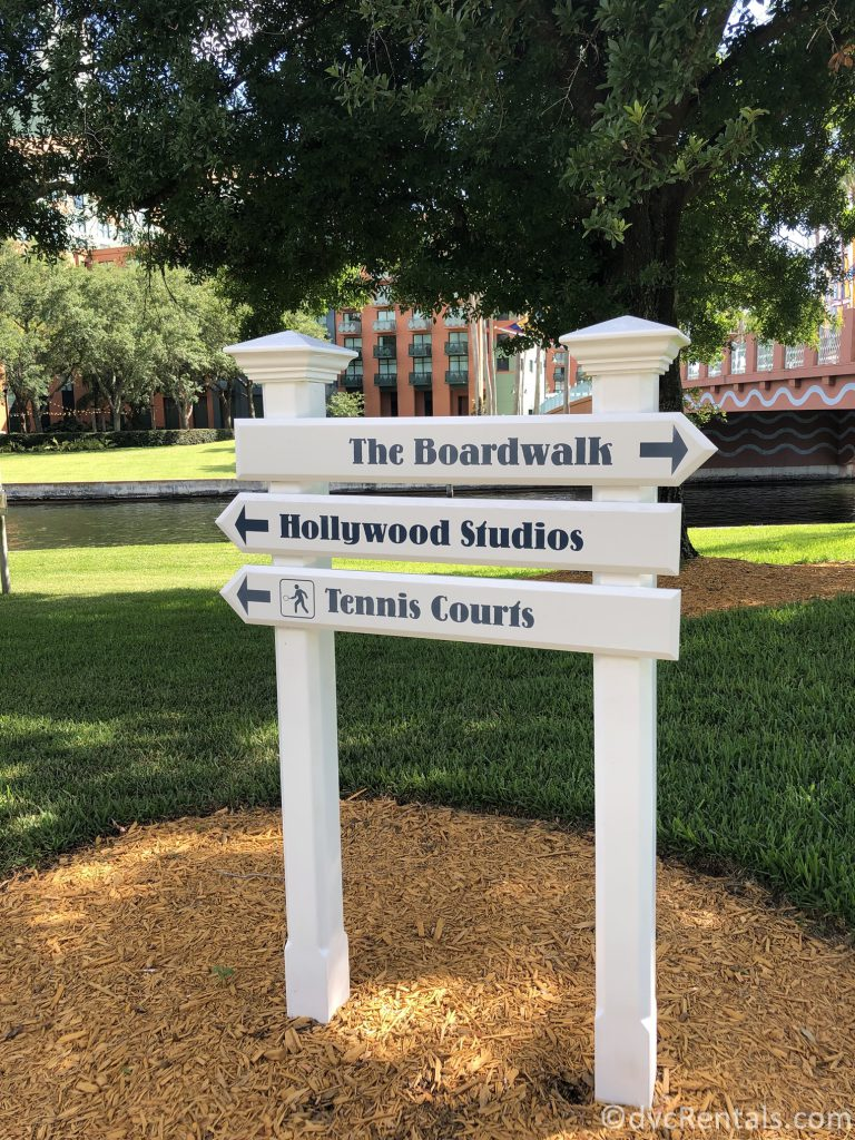 sing for the walking path from Disney's Boardwalk Villas to Hollywood Studios