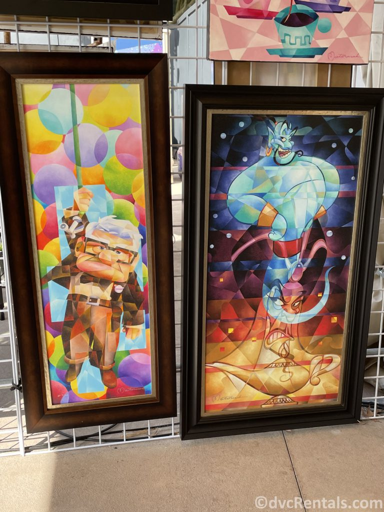 Art posters from the Taste of Epcot International Festival of the Arts