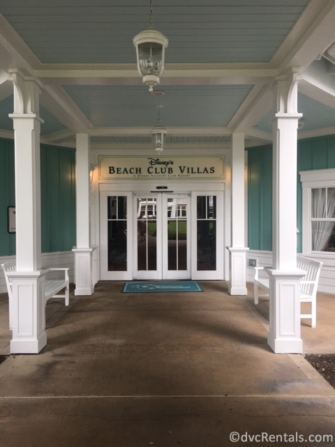 Entrance to Disney's Beach Club Villas