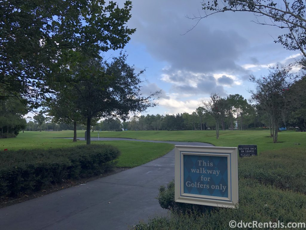 Golf course at WDW