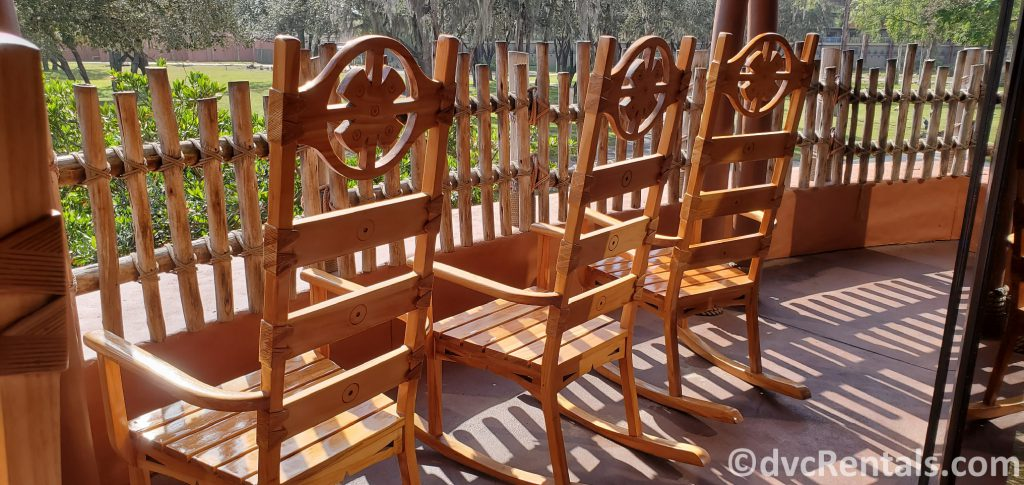 rocking chairs at Disney's Animal Kingdom Villas
