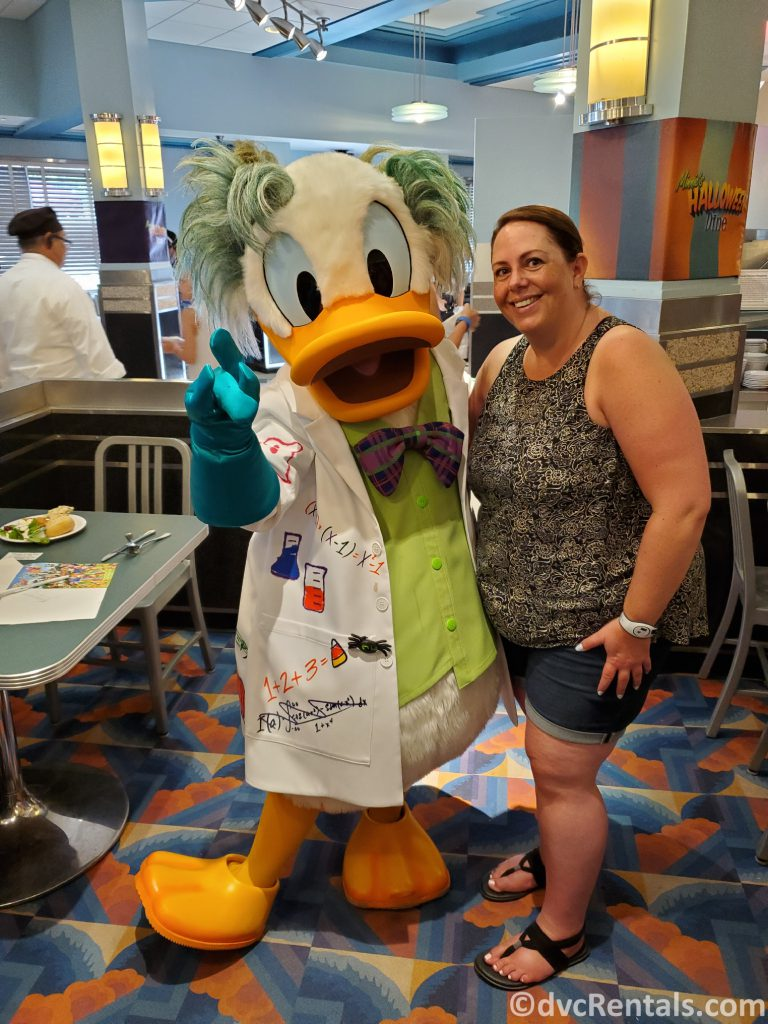 Team Member Stacy with Donald Duck