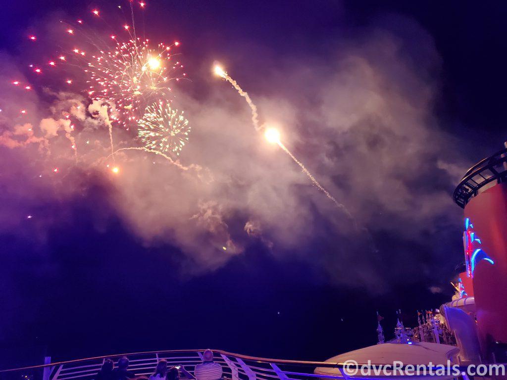 Fireworks on the Disney Dream