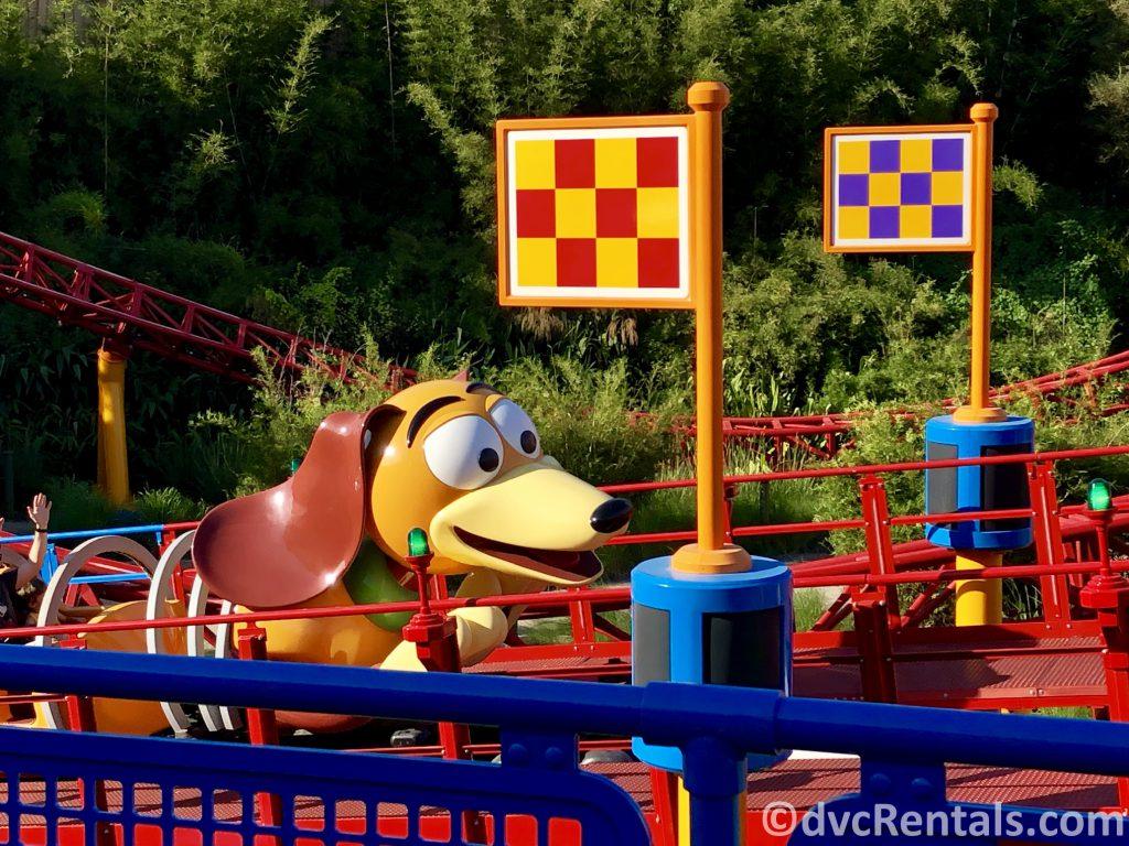 Slinky Dog Dash coaster at Disney's Hollywood Studios