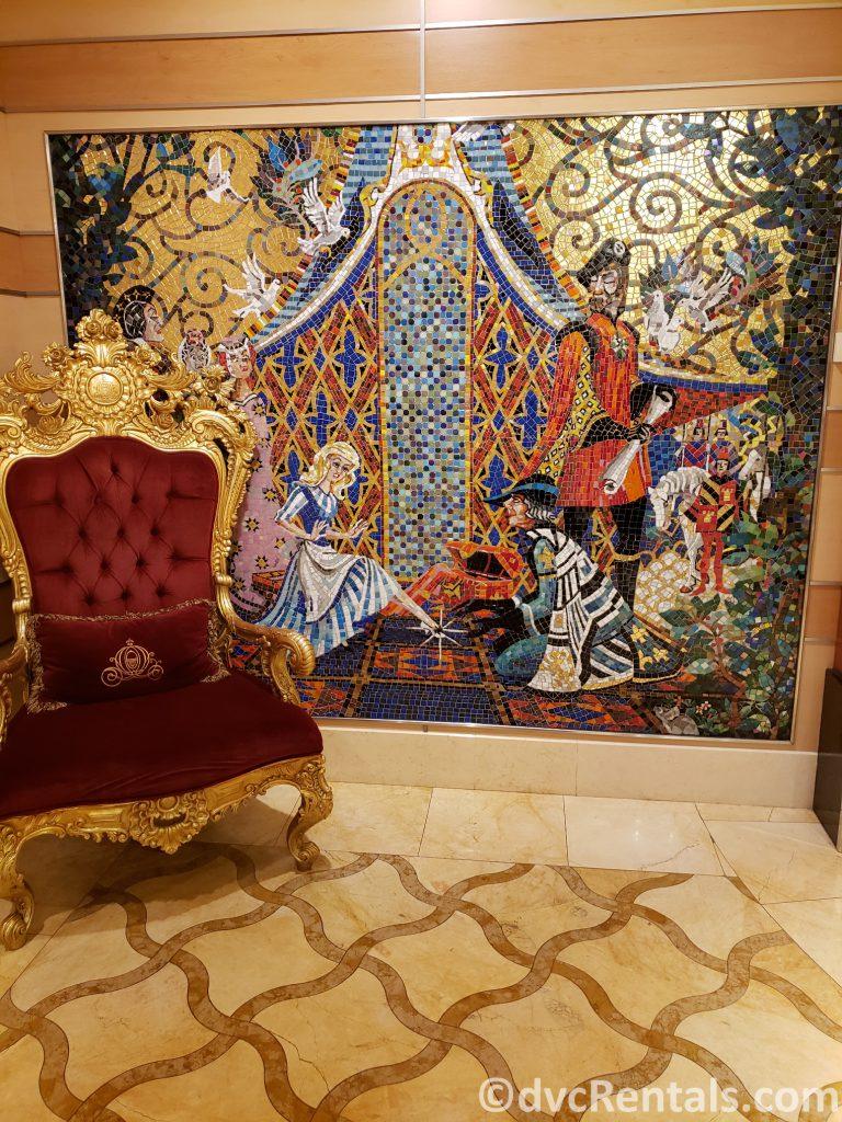 mosaic tile mural on the Disney Dream