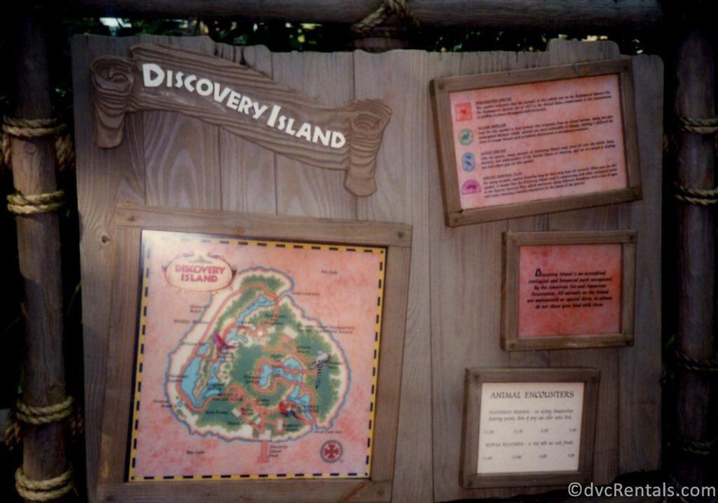 Discovery Island Sign