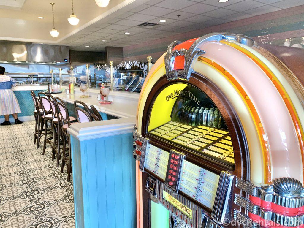 decor inside Beaches & Cream Soda Shop