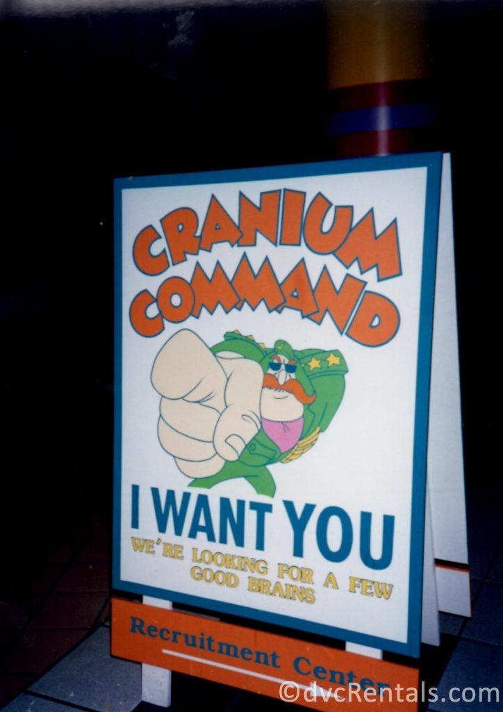 Sign for Cranium Command