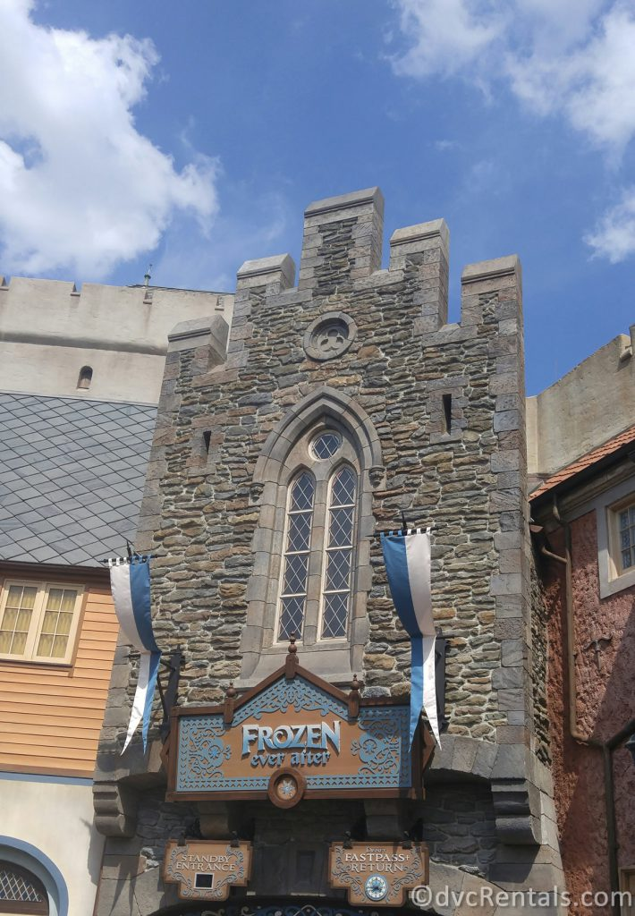 Entrance to Frozen Ever After