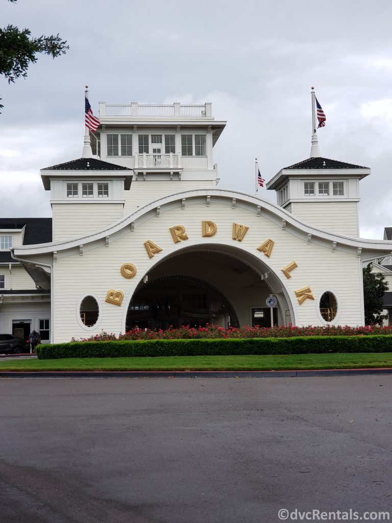 Entrance to Disney's Boardwalk Villas