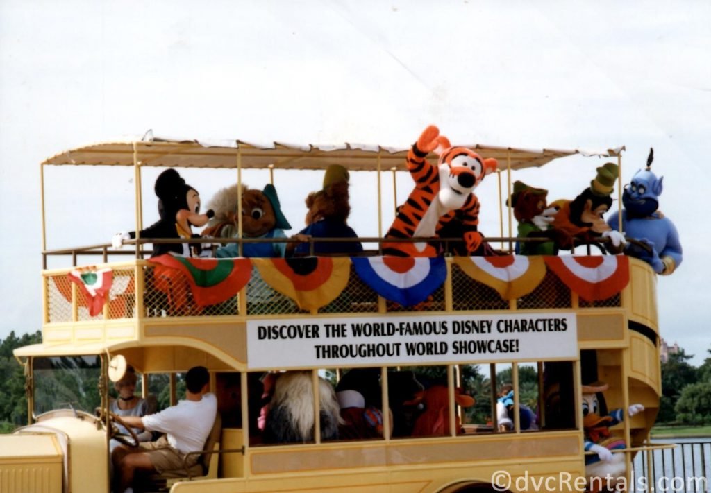Character bus that use to travel around Epcot