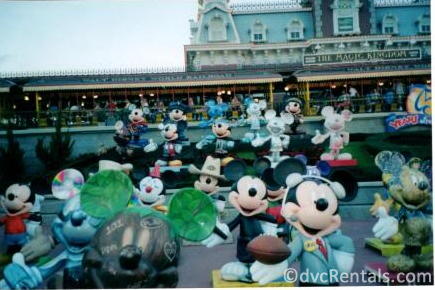 Mickey Statues outside of the Magic Kingdom