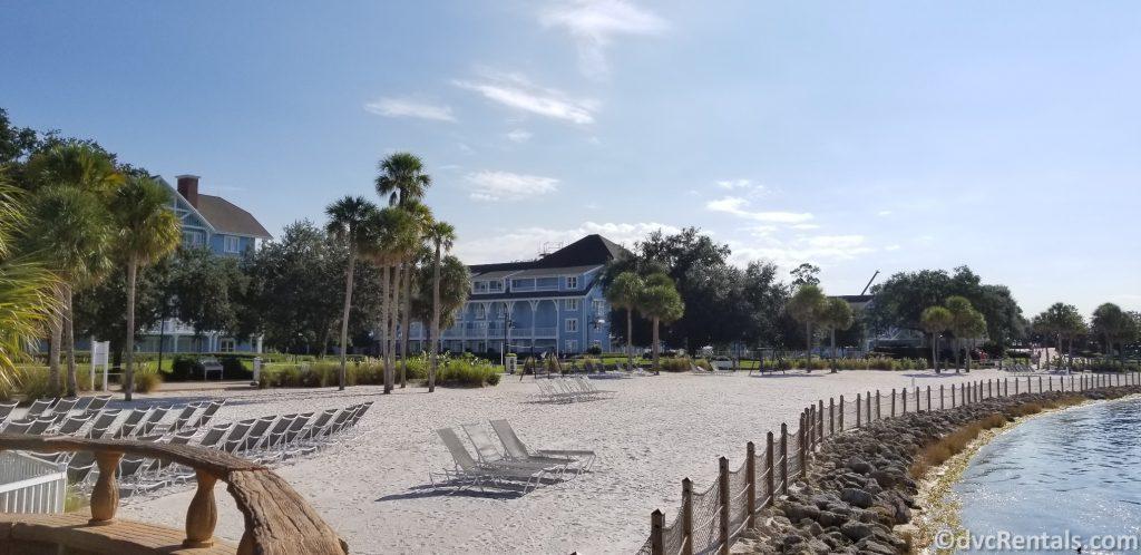 Beach area at Disney's Beach Club Villas