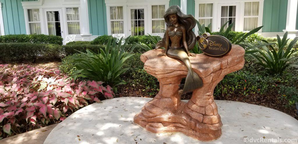 Ariel statue in front of Disney's Beach Club Villas