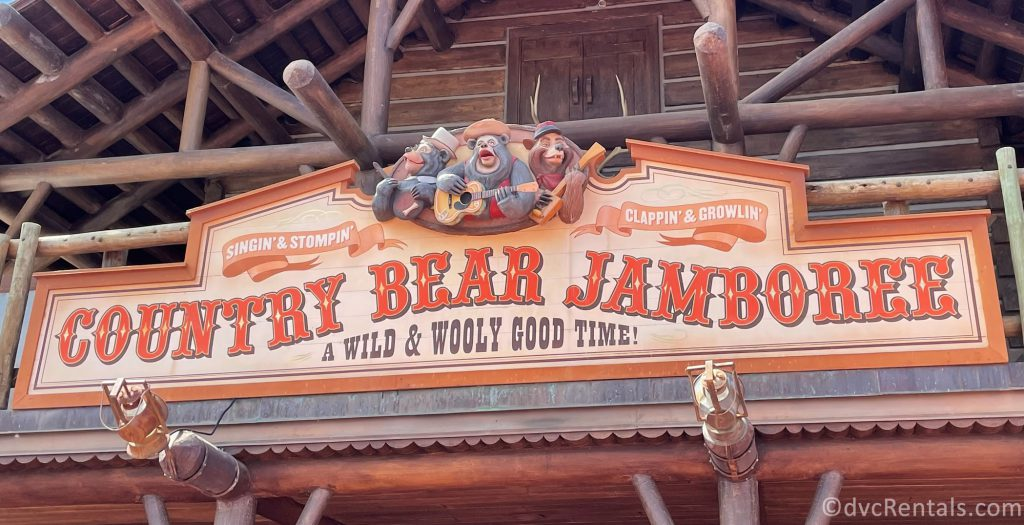 Sign for the Country Bear Jamboree