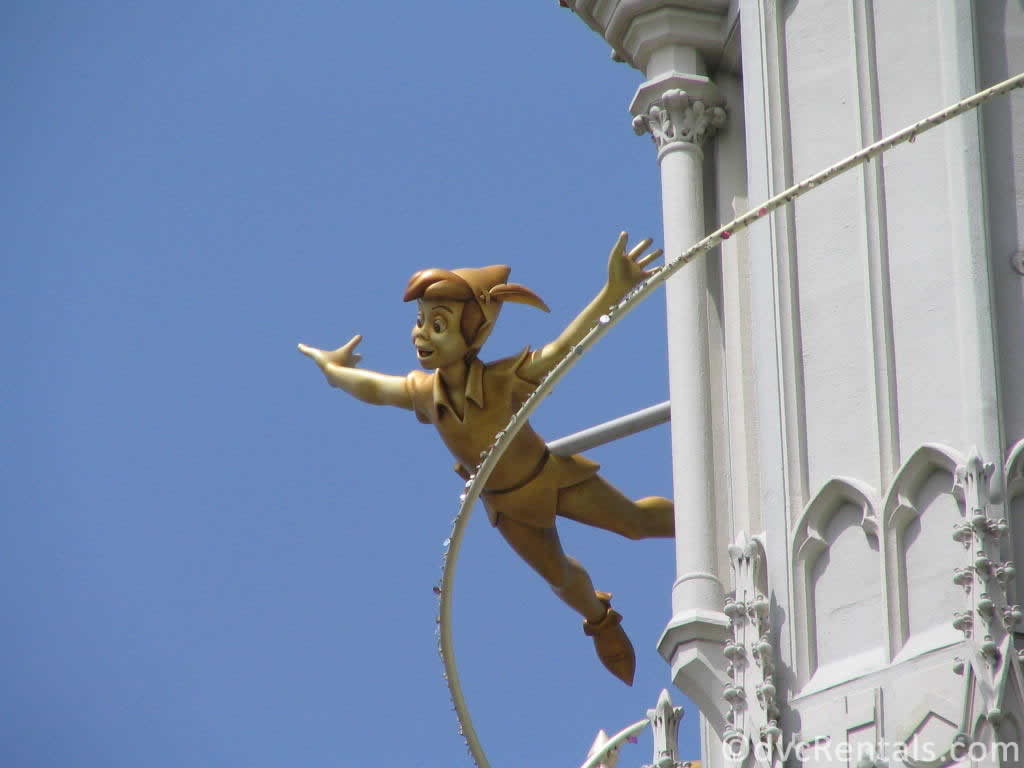 Cinderella Castle with Peter Pan for WDW's 35th anniversary