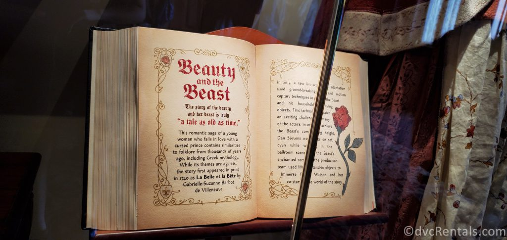 book from the Beauty and the Beast Sing-Along