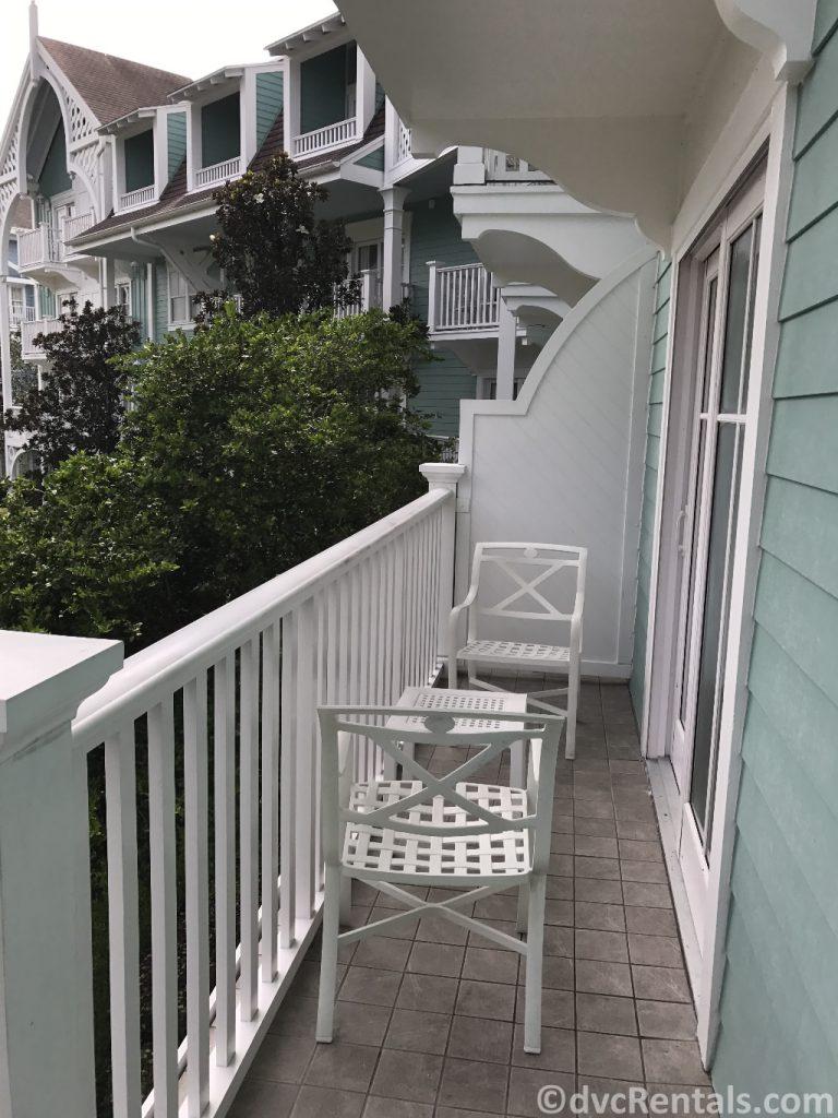 balcony of a 1 bedroom villa at Disney's Beach Club Villas