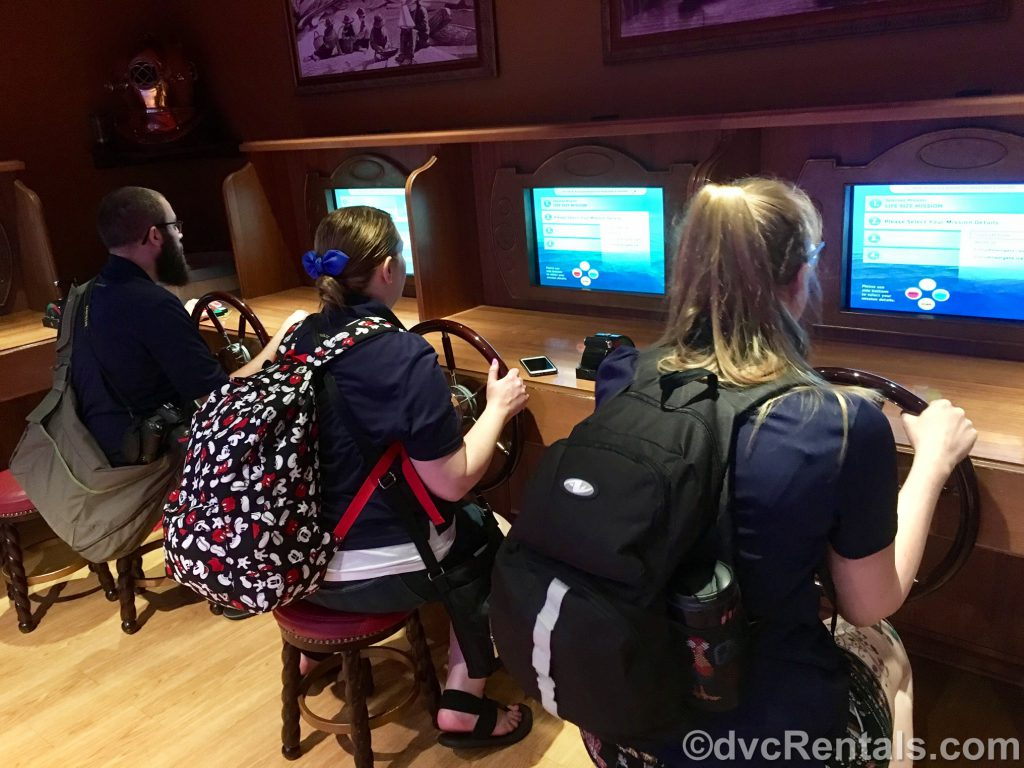 Team Members Kevin, Stacy and Chelsey playing in the Kid's Club on the Disney Dream