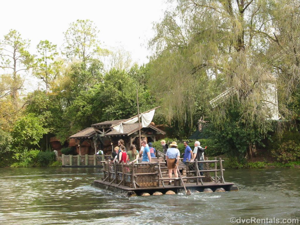 Raft to Tom Sawyer Island at Magic Kingdom
