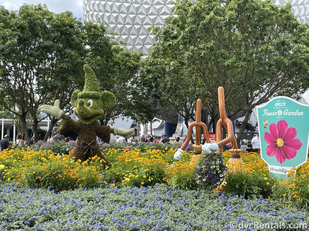 Mickey Mouse topiary from the Taste of Epcot International Flower & Garden Festival
