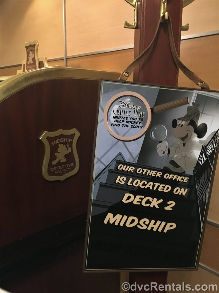 Mid-ship Detective Agency game on the Disney Dream