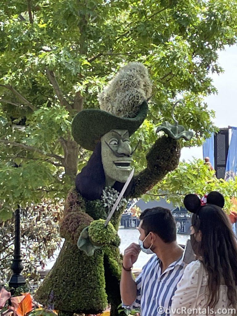 Captain Hook topiary from the Taste of Epcot International Flower & Garden Festival