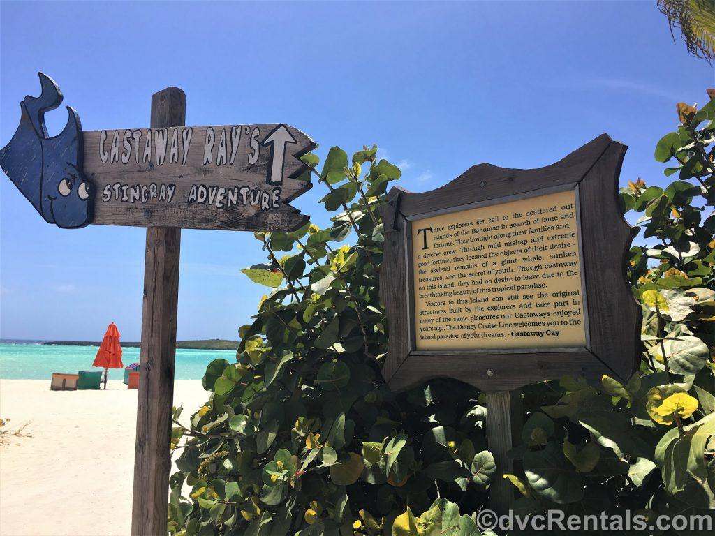 signs at Castaway Cay