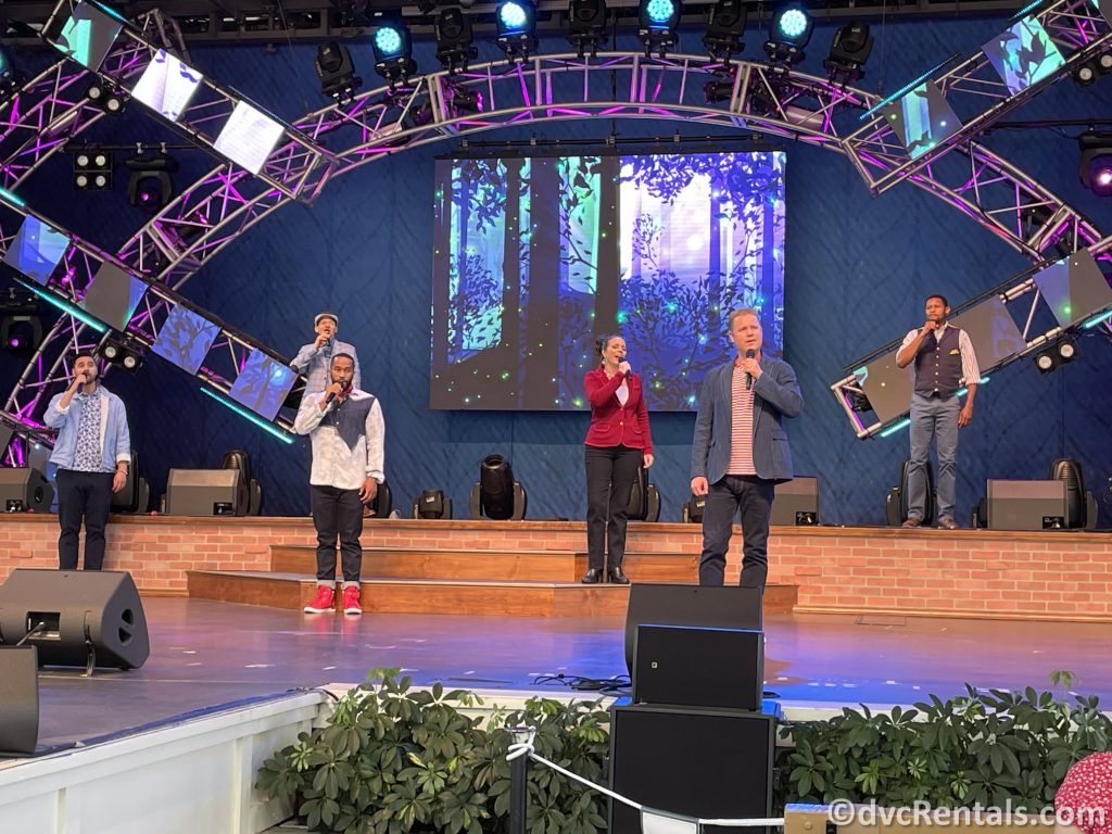 Voice of Liberty performing at the Taste of Epcot International Flower & Garden Festival