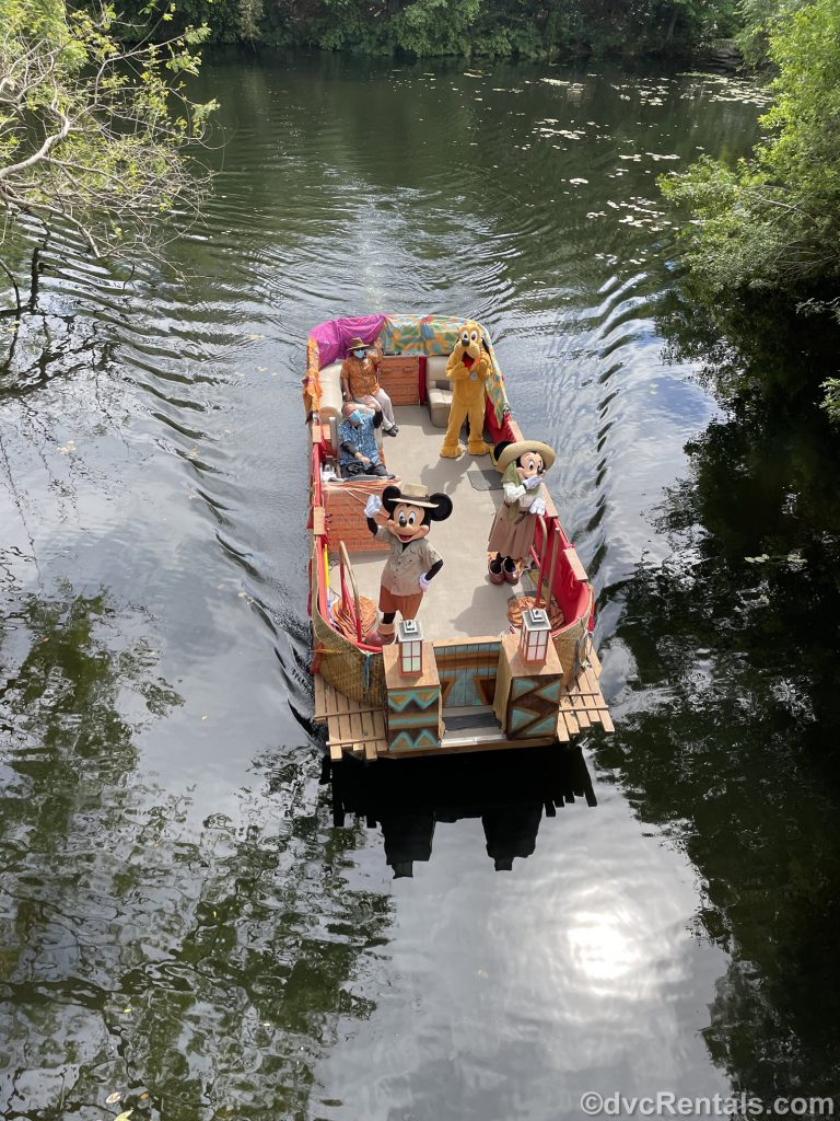 Characters on a Boat at Disney's Animal Kingdom