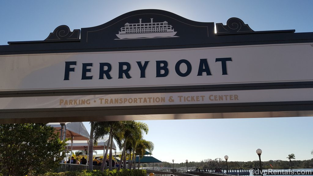 Sign for the Ferryboats to the Magic Kingdom