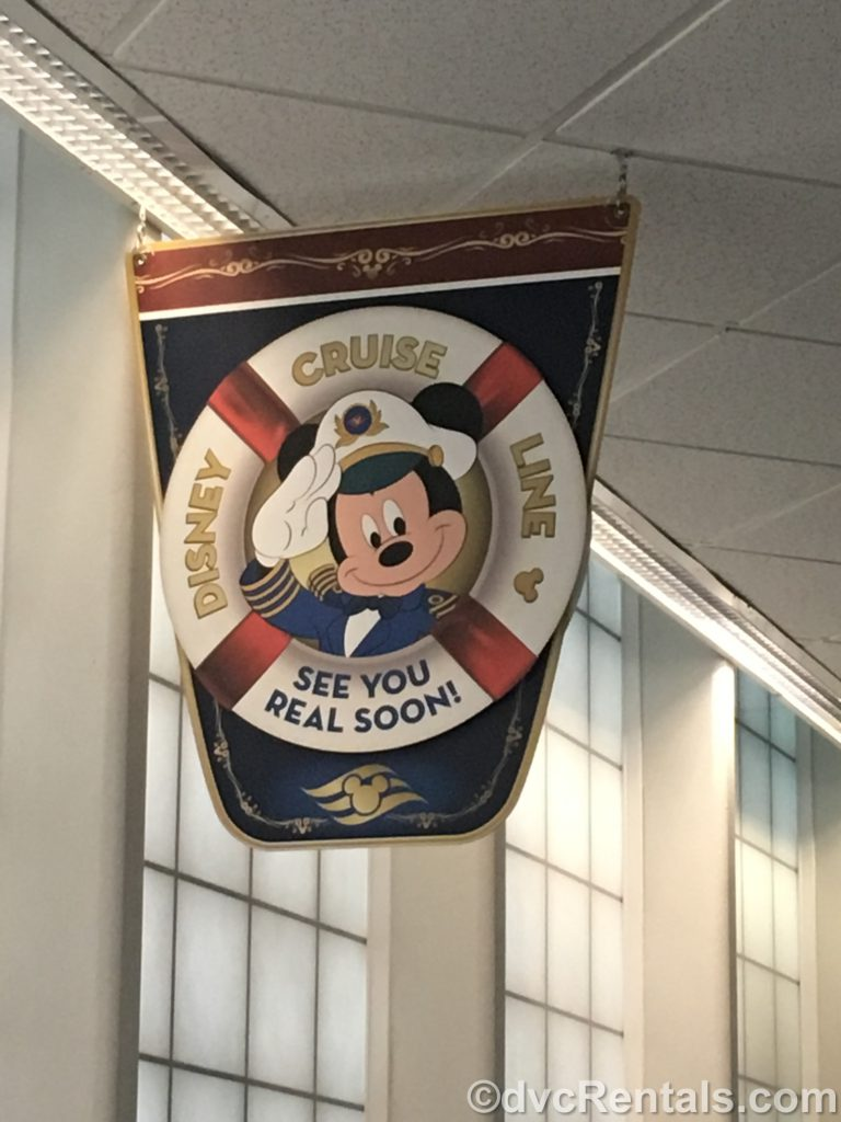 See Ya Real Soon sign from Disney Cruise Line