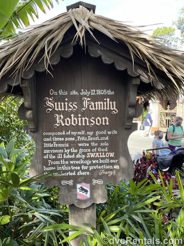 Sign for the Swiss Family Treehouse