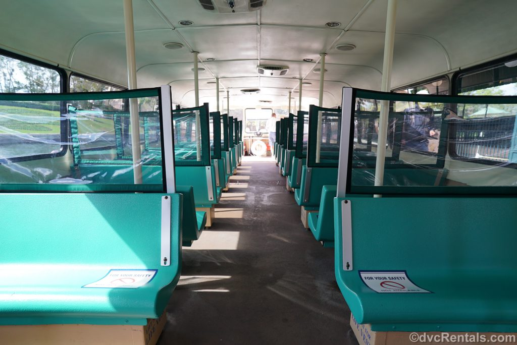 seating area of a Friendship boat