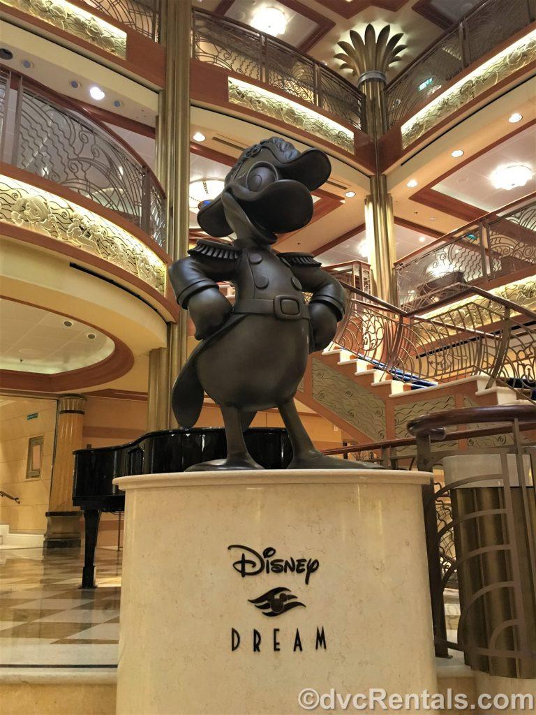 Donald Duck statue on the Disney Dream
