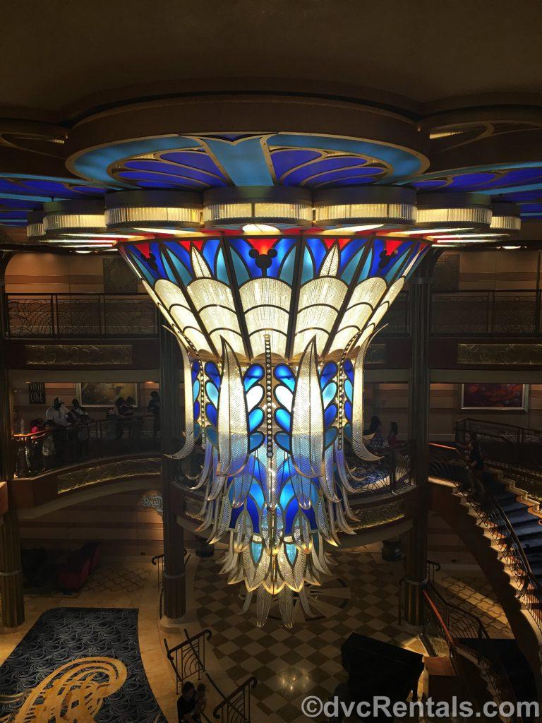 chandelier on the Disney Dream