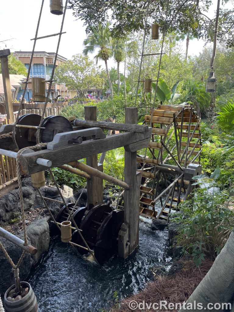 water system at the Swiss Family Treehouse