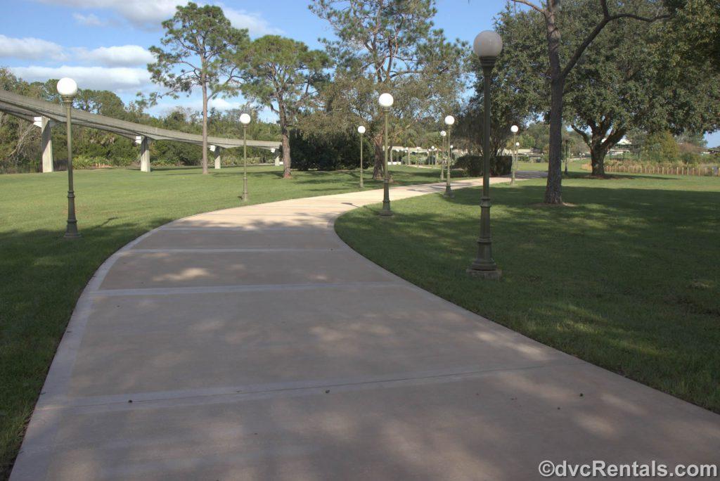 walking path to the Magic Kingdom