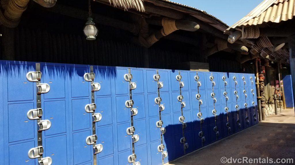 Lockers at Typhoon Lagoon