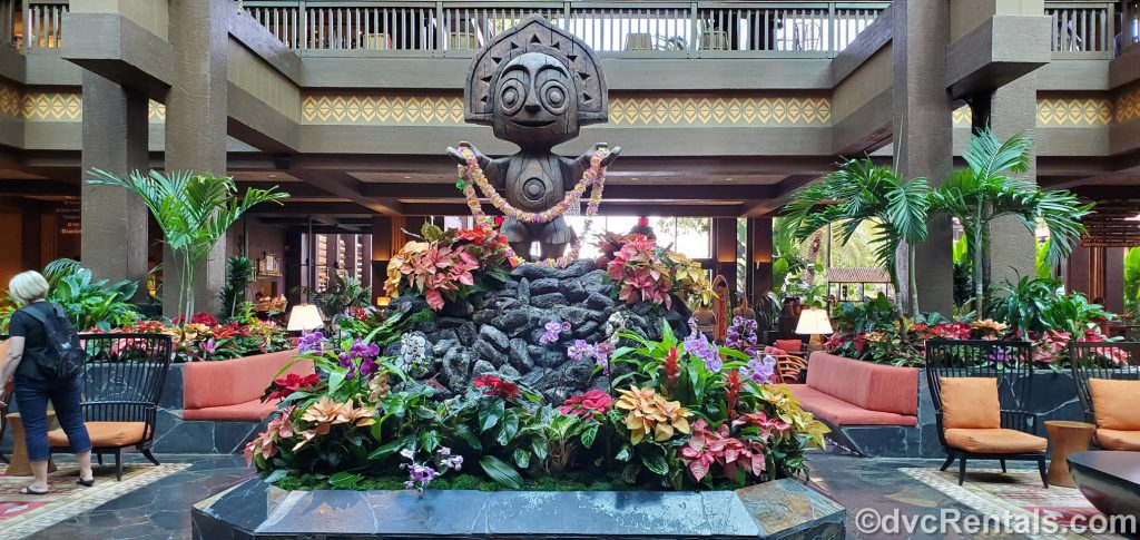 Lobby of Disney's Polynesian Villas & Bungalows