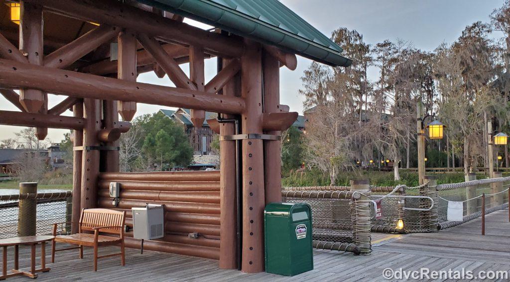 boat dock at Disney's Wilderness Lodge