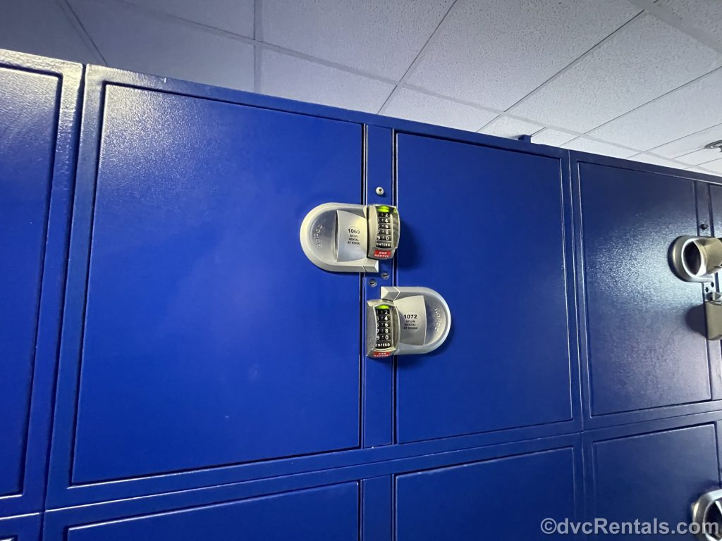 Large lockers available for rental at WDW
