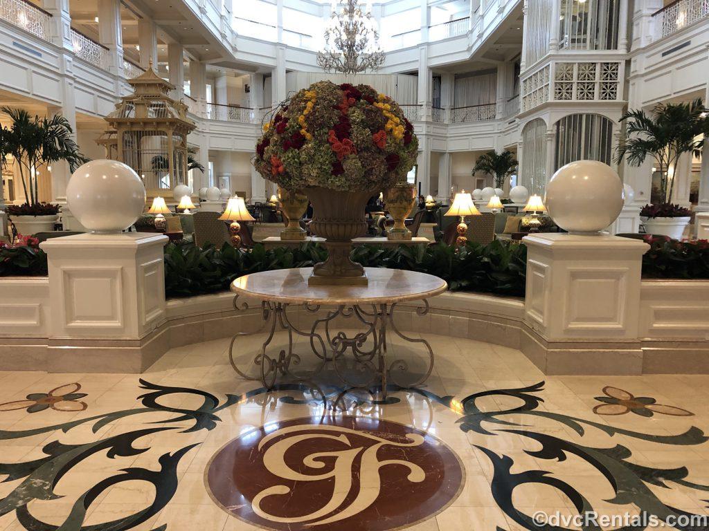 main lobby at Disney's Grand Floridian