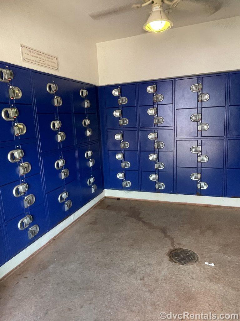 Locker rentals at WDW