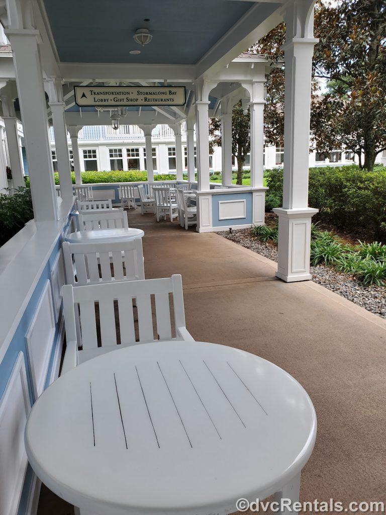 table and chairs at Disney's Beach Club Villas