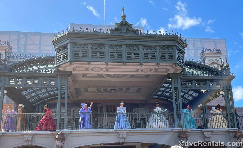 Characters at the Magic Kingdom Train Station