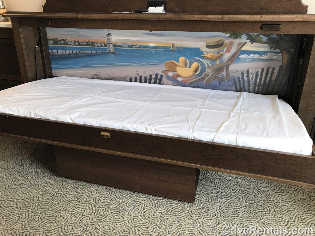 pull-down bunk-size bed at Disney's Beach Club Villas